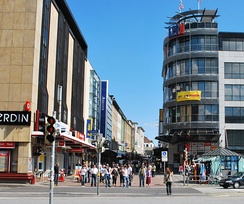 The Holstenstraße is one of the longest shopping streets in Germany — Kiel is the largest city in the state of Schleswig-Holstein.