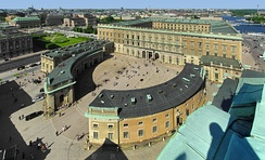 The Royal Palace in Stockholm, as seen from the tower of the Cathedral