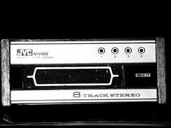A typical 8-track tape player