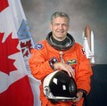 Marc Garneau, the first Canadian in outer space (October 1984).