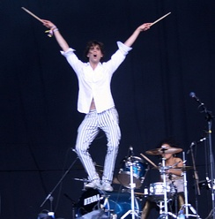 Mika at the 2007 Glastonbury Festival in Somerset, England