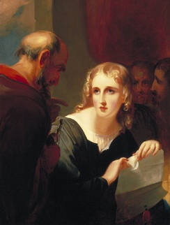 Shylock and Portia (1835) by Thomas Sully.