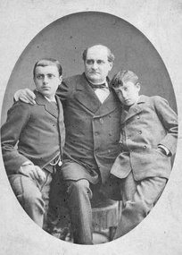 Prince Napoleon with his two sons