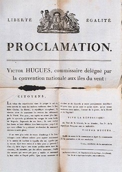 Proclamation of the abolition of slavery by Victor Hugues in the Guadeloupe, 1 November 1794
