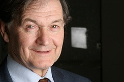Sir Roger Penrose, Rouse Ball Professor of Mathematics (1973–1999) and Nobel Laureate