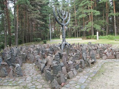 Memorial at the site of the Rumbula massacre, Latvia