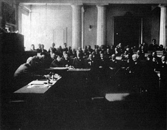Session of Sabor on 29 October 1918