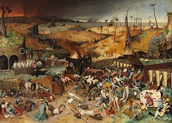 Pieter Bruegel's The Triumph of Death (c. 1562) reflects the social upheaval and terror that followed the plague that devastated medieval Europe.