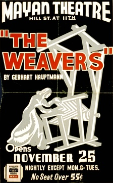 Poster for a Federal Theatre Project presentation of The Weavers in Los Angeles (1937)