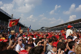 The fans' invasion at the end of 2011 GP