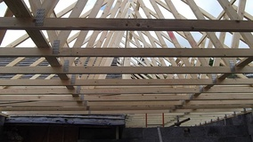 Roof trusses made from softwood