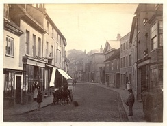 Tring High Street in the 19th century