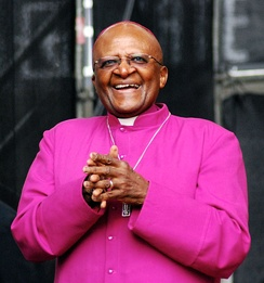 "Tutu at the COP17 ""We Have Faith: Act Now for Climate Justice Rally"", in Durban, November 2011"