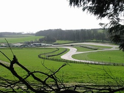 View of Dover Slope and Devils Elbow on Lydden Hill Race Circuit
