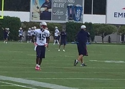 Wayne at Patriots practice in August 2015