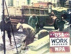 The WPA employed 2–3 million at unskilled labor.