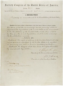 The Fifteenth Amendment in the National Archives