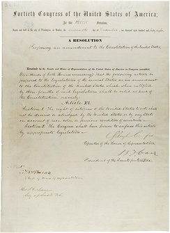 Text of the 15th Amendment