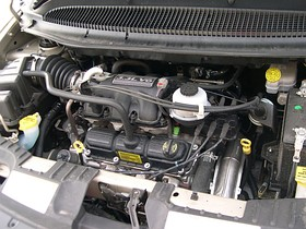 2005 Chrysler Town and Country LX 3.3 engine.JPG