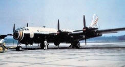 Experimental Boeing YKB-29T Superfortress,(Boeing B-29-90-BW Superfortress) 45-21734, assigned to the 421st Air Refueling Squadron, Yokota Air Base, Japan, 1954 Returned to United States and retired to AMARC, Feb 1955.