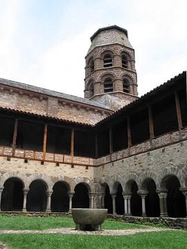 The cloister of Lavaudieu Abbey