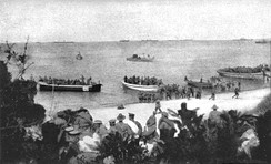Anzac Beach amphibious landing, on April 25, 1915