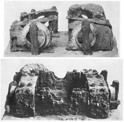 Metal components of the Ampurias Catapult, found in 1912 in the Neapolis of Ampurias