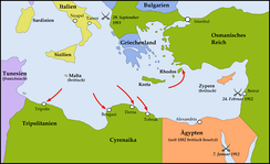 Italian landings in Libya and Rhodes