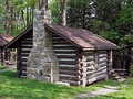 A log cabin built by the CCC between 1933 and 1937 in Black Moshannon State Park, Pennsylvania