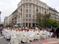 Catholic priests from all over the world in Budapest, 2013