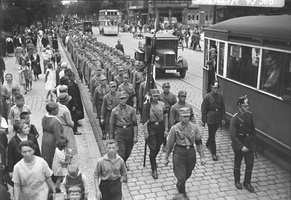 The SA in Berlin in 1932. The group had nearly two million members at the end of 1932.
