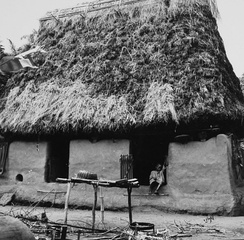 Traditional Igbo house/room from the Anambra area, 1967