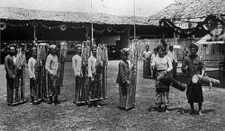 Angklung performance in Batavia (now Jakarta), c. 1910–1930.