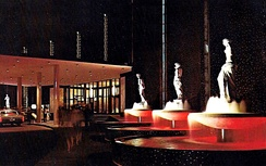 Caesars Palace fountains in 1970