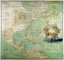 Map of North America during the 17th century