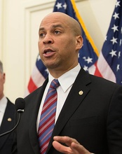 Senator Cory Booker spoke on the first night of the convention