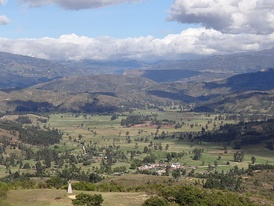View of the sacred Iraca Valley (Tobasía)