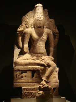 Enthroned god Vishnu, Pandya dynasty, second half of the 8th–early 9th century CE (Metropolitan Museum of Art, New York City)