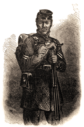 "Escaped slave, Gordon (or ""Whipped Peter""), in USCT uniform"