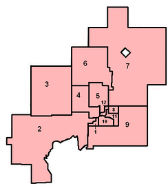 New ward boundaries in 2006.