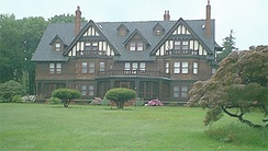 A mansion on Long Island's wealthy Gold Coast, which along with The Hamptons and Brooklyn's western waterfront (facing Manhattan) provides Long Island with some of the most expensive residential real estate in the Western Hemisphere.