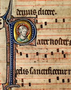 Music notation from an early 14th-century English Missal