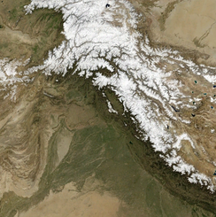 The snow-covered Himalayas