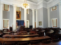 Old House of Representatives Chamber, used until 1963 at the State Capitol