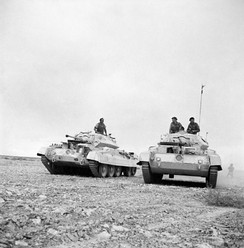 British Crusader tanks during the North African Campaign