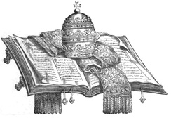 1881 illustration depicting papal infallibility