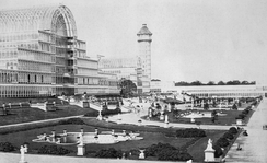 The Crystal Palace after its move to Sydenham Hill in 1854.