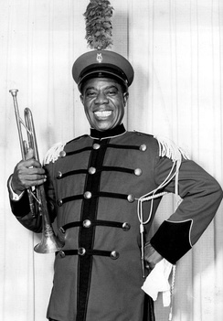 "Armstrong played a bandleader in the television production ""The Lord Don't Play Favorites"" on Producers' Showcase in 1956."
