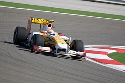 Nelson Piquet Jr. driving for Renault at the 2009 Turkish Grand Prix.