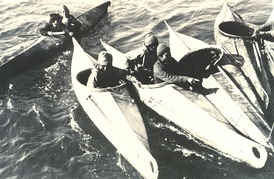 Nunivak kayaks, August 1936